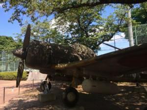 知覧特攻平和会館に置かれる「隼」戦闘機の実物大模型