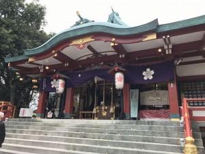 今日の多摩川浅間神社