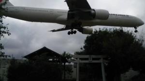三里塚の東峰神社と航空機