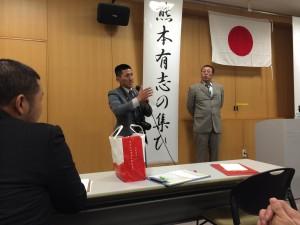 主催者の鈴木田氏(左)と河原博史講師(右)